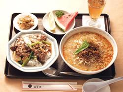 坦々麺とミニご飯のセット