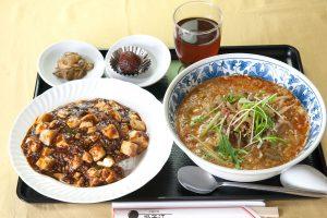 セットランチ担々麺と麻婆飯
