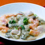 石巻産牡蠣と海鮮のクリーム煮